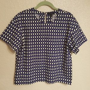 J.crew patterned top